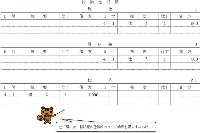 総勘定元帳4